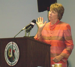 Marthe Kent, Regional Administrator, of the Boston Regional COSH  Office.